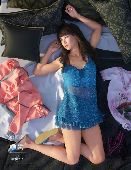 Teddy Sleepwear for Genesis 8 Female(s)