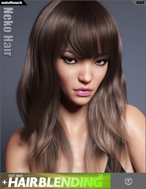 Neko Hair for Genesis 3 and 8 Female(s)
