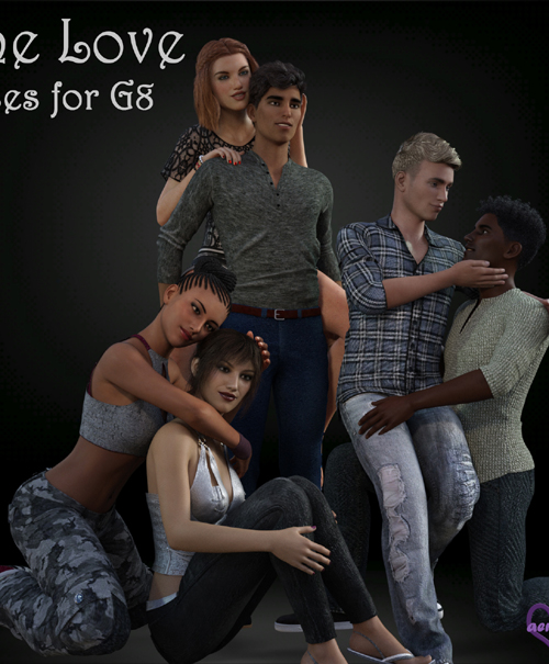 One Love Poses for Genesis 8 Couples