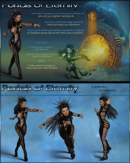 Portals of Eternity-Poses and Backgrounds for G3F and G8F
