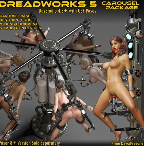 """""""Dreadworks 5"""" Carousel Pack For DazStudio 4.8+"""