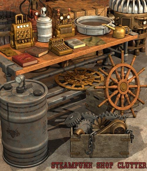 Steampunk Shop Clutter