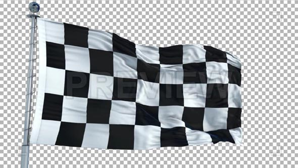 Checkboard Flag Animation