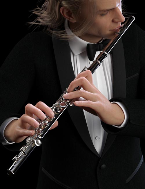 HD Flute and Poses for Genesis 8
