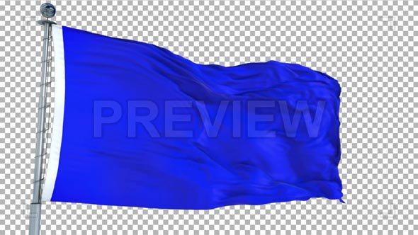 Blue Flag Animation