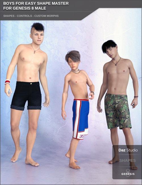 Boys for Easy Shape Master for Genesis 8 Male