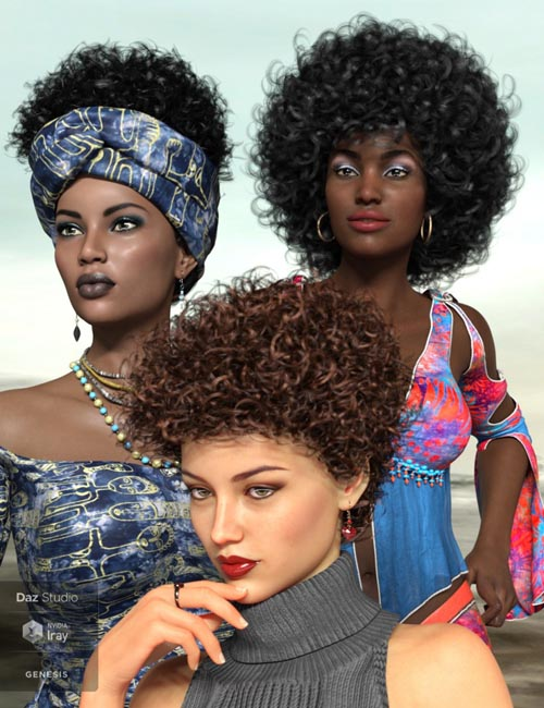 Zahara Hair 2 for Genesis 8 Female(s)