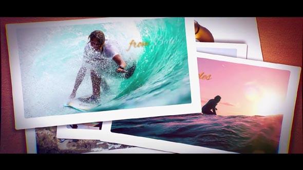 Falling Polaroid Photos