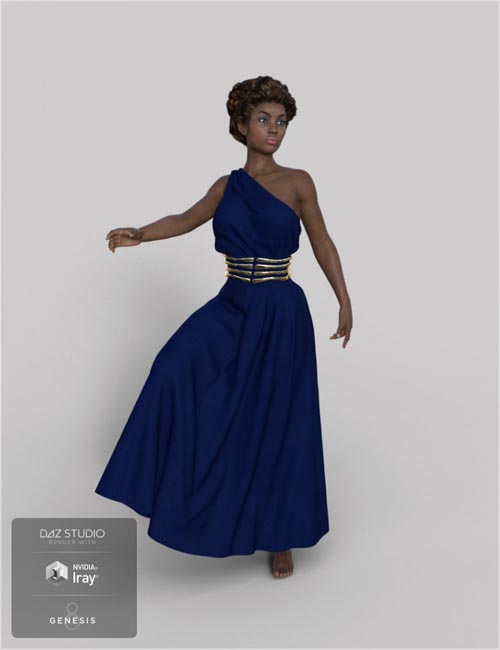 dForce Roma Dress for Genesis 8 Female(s)