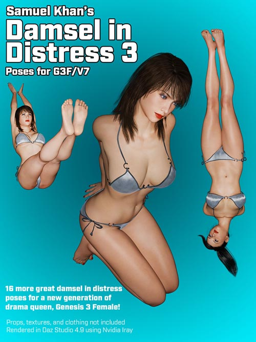 Damsel In Distress Poses For G3F/V7 Vol. 3