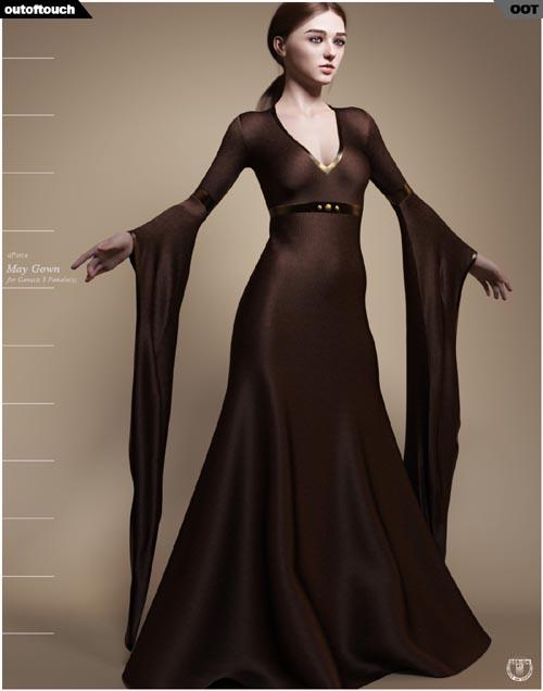 dForce May Gown for Genesis 8 Females