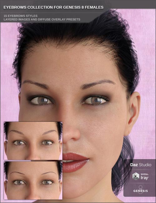 Eyebrows Collection for Genesis 8 Female(s)