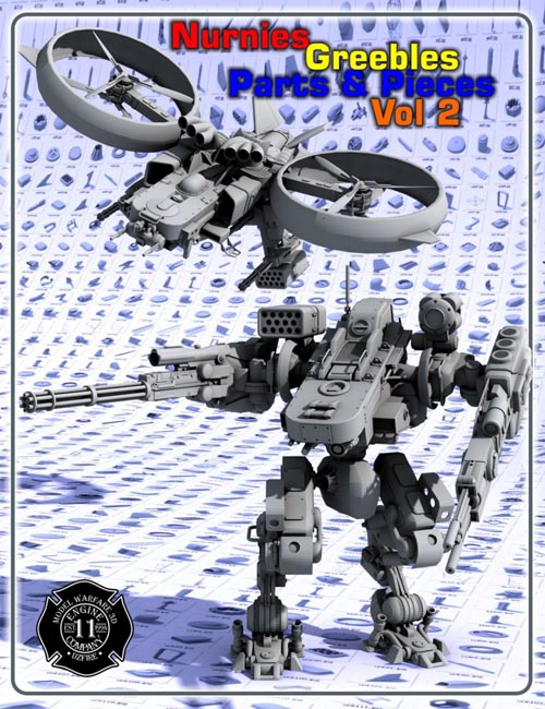 Nurnies Greebles Parts and Pieces Vol 2
