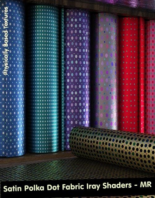 Satin Polka Dot Fabric Iray Shaders - Merchant Resource