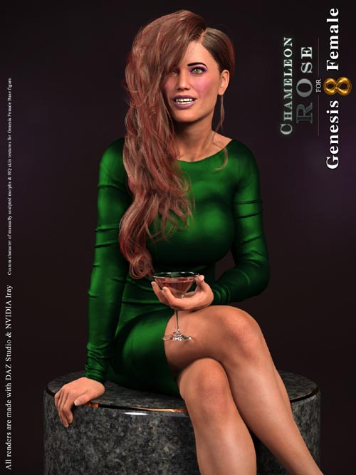 Chameleon ROse for Genesis 8 Female