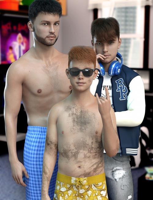 Brothers' Bundle for Genesis 8 Male