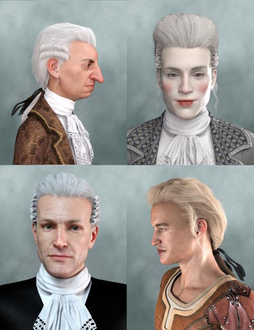 Historical Hair for Genesis 8 and 3 Male(s)