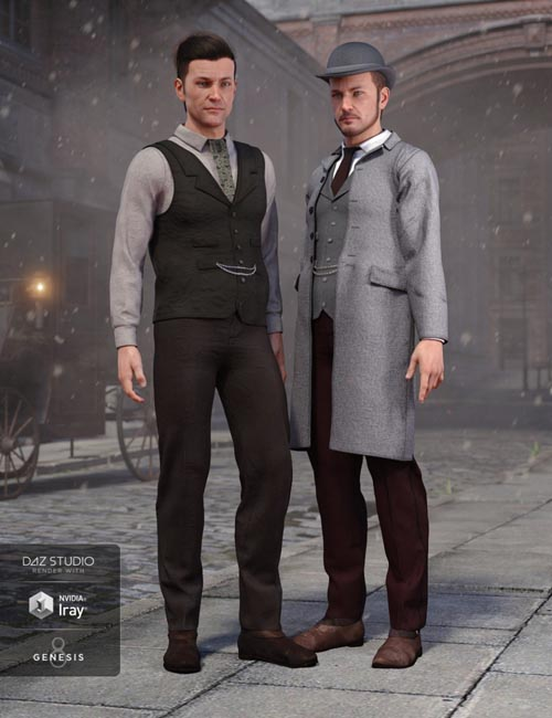 Mid Victorian Outfit Textures for Genesis 8 Male(s)