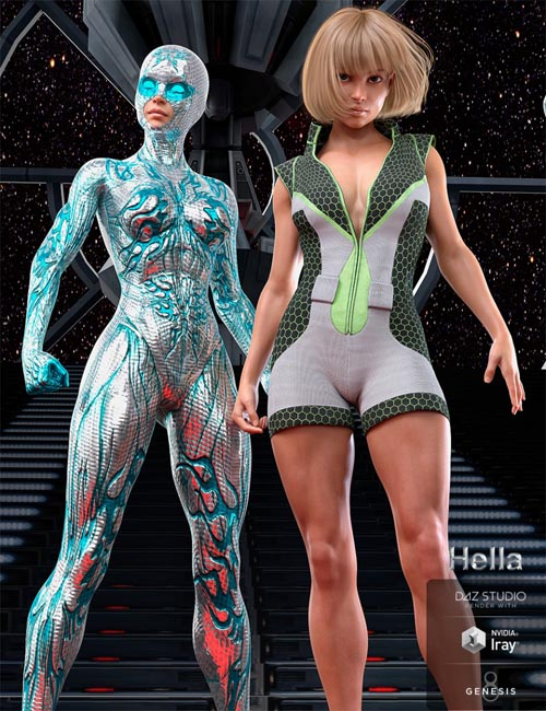 Hella Character and Bodysuit for Genesis 8 Female