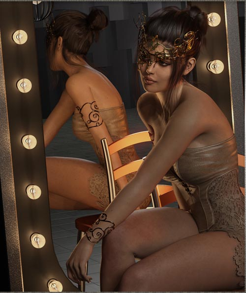 Masquerade Masks - Genesis 3-8 Females