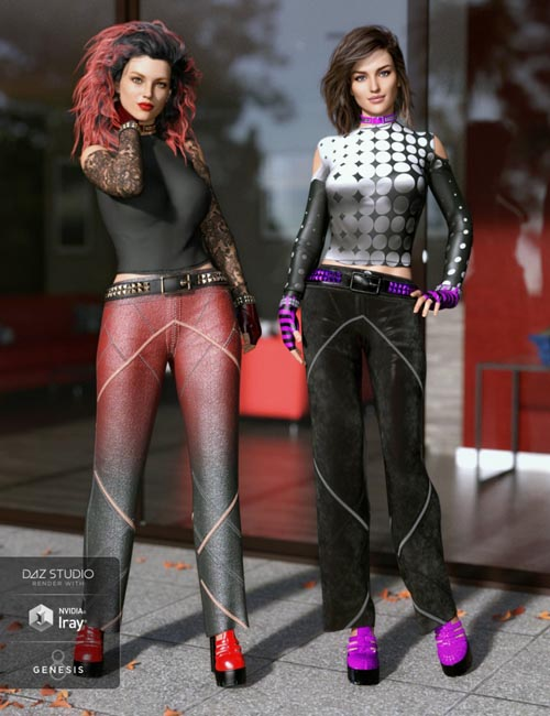 dForce Chic Fashion Gothic Outfit Textures