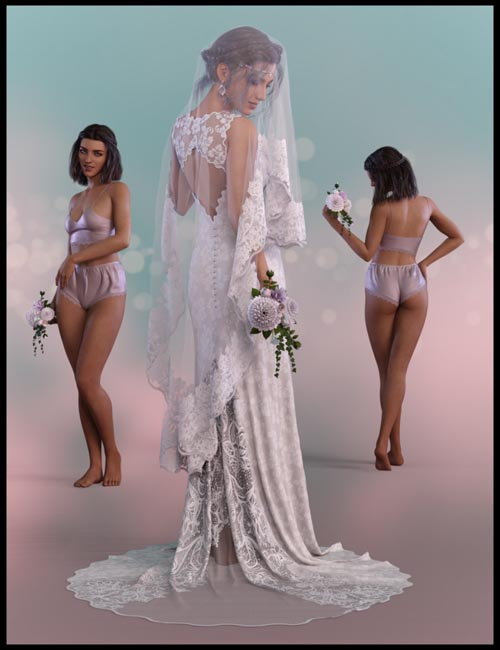 White Wedding dForce Ready Poses for Genesis 8 Female