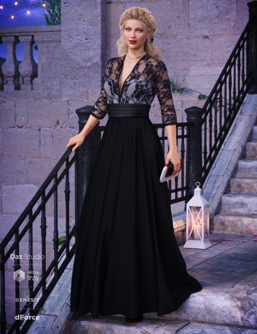 dForce Before Midnight Dress for Genesis 8 Female(s)