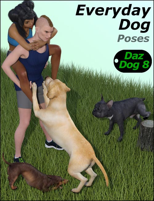 Everyday Dog Poses for Daz Dog 8