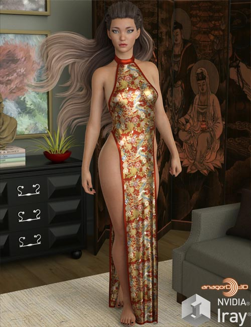 VERSUS - dForce Sexy Loin Dress for Genesis 8 Females
