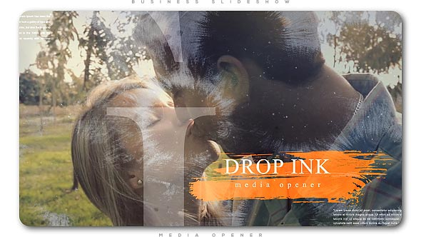 Ink Drop Romantic Media Opener