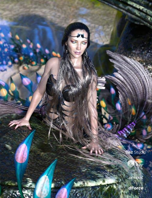 Aguja Mermaid Hair with dForce for Genesis 8 Female