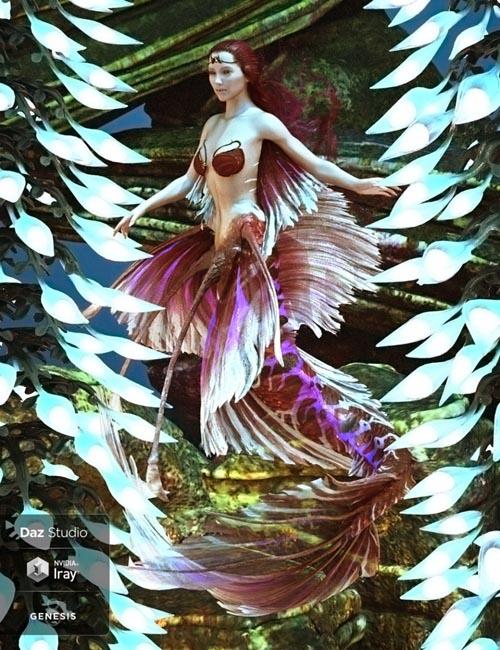 Aguja Mermaid for Genesis 8 Female Plus Mertail and Fins