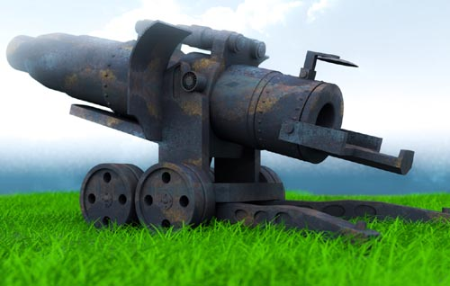 WWI Artillery Cannon