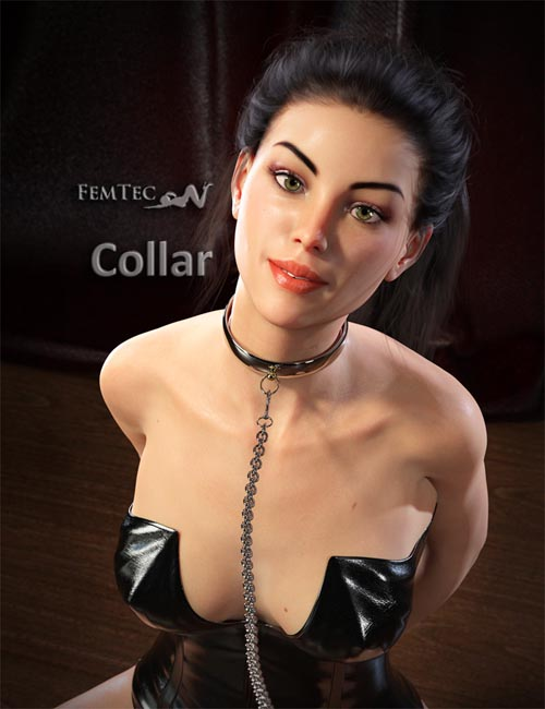 Collar With Chain For Genesis 8 Female