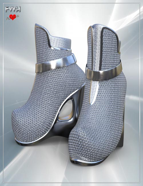 FWH Futuristic Wedge Heels for Genesis 8 Female(s)