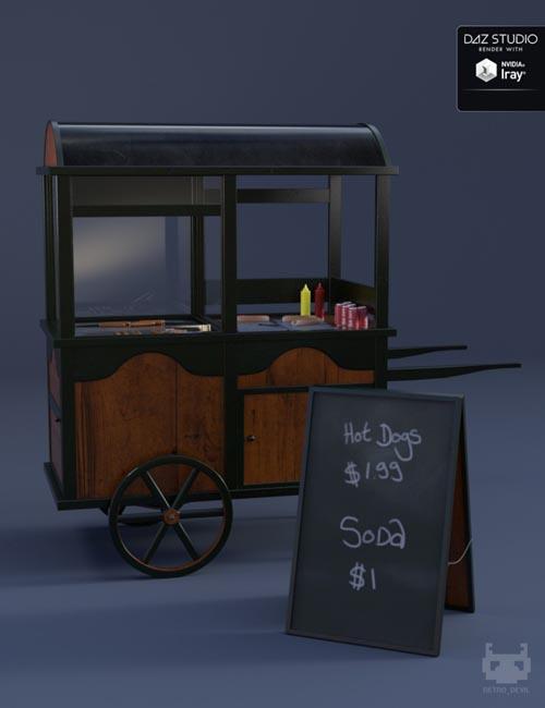 Vintage Hot Dog Cart