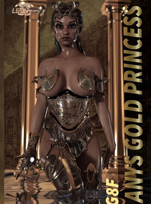 Anys Gold Princess Outfit