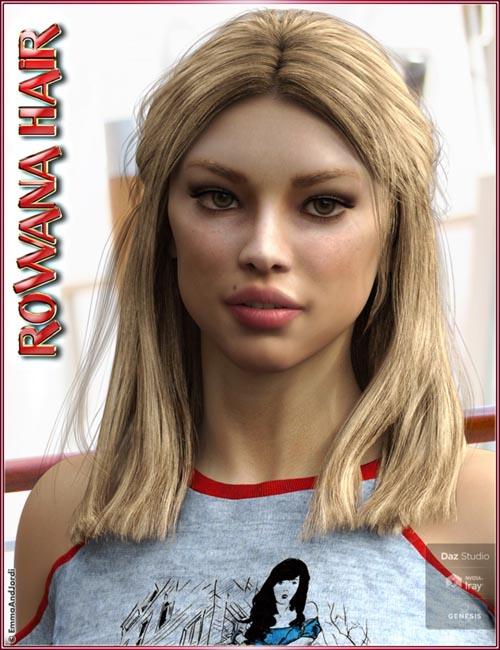 Rowana Hair For Genesis 8 Female(s)