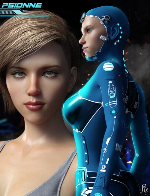 Psionne & Psion Suit for Genesis 8 Female(s)