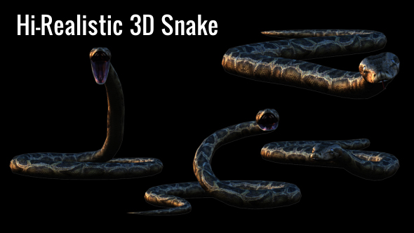 Realistic 3D Snake Animations Pack