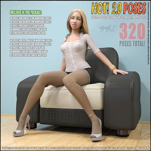Hot! 2.0 - Poses for G8 and V8