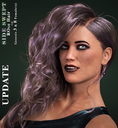 Side Swept ROse Hair (G3F,G8F) UPDATE