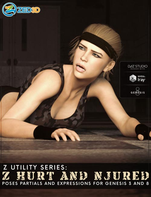 Z Utility Series: Hurt and Injured - Poses, Partials and Expressions for Genesis 3 and 8
