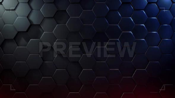Extruded Hexagon Background