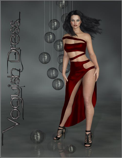 dForce-Voguish Dress for Genesis 8 Female