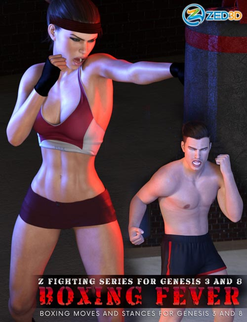 Z Fighting Series: Boxing Fever - Poses and Partials for Genesis 3 and 8