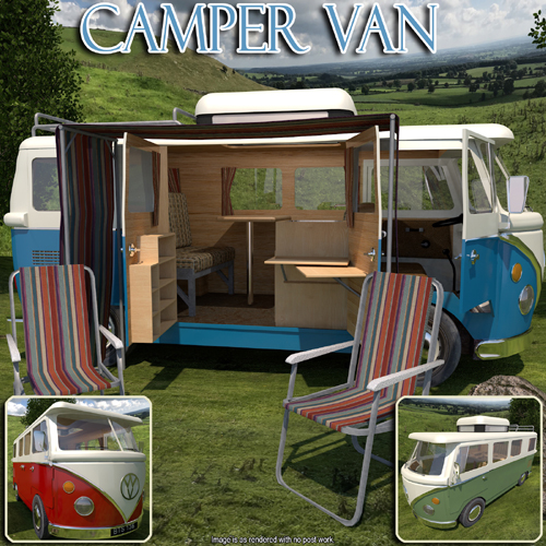 Camper Van for Poser