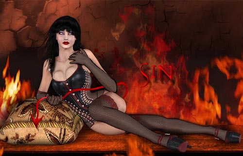 Sin for BillyT's Leather Corset for V4