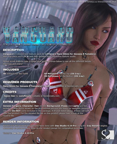 Vanguard for Nano Bikini for Genesis 8 Females