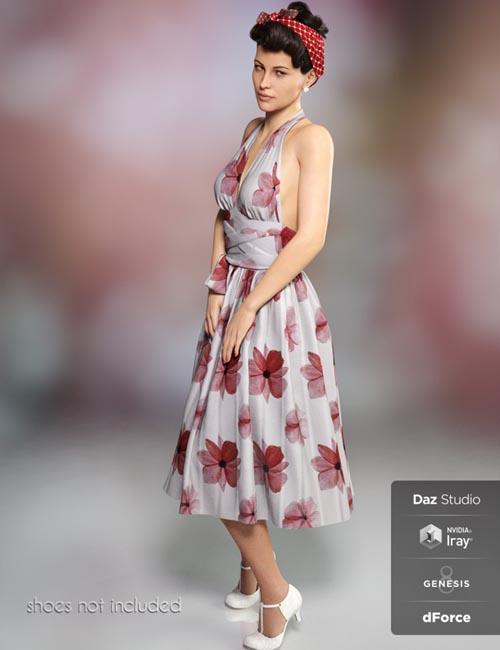 dForce Iconic Dress for Genesis 8 Female(s)